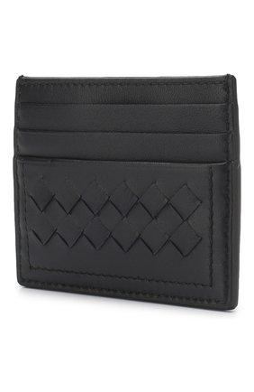 Кожаный футляр для кредитных карт Bottega Veneta синего цвета | Фото №2