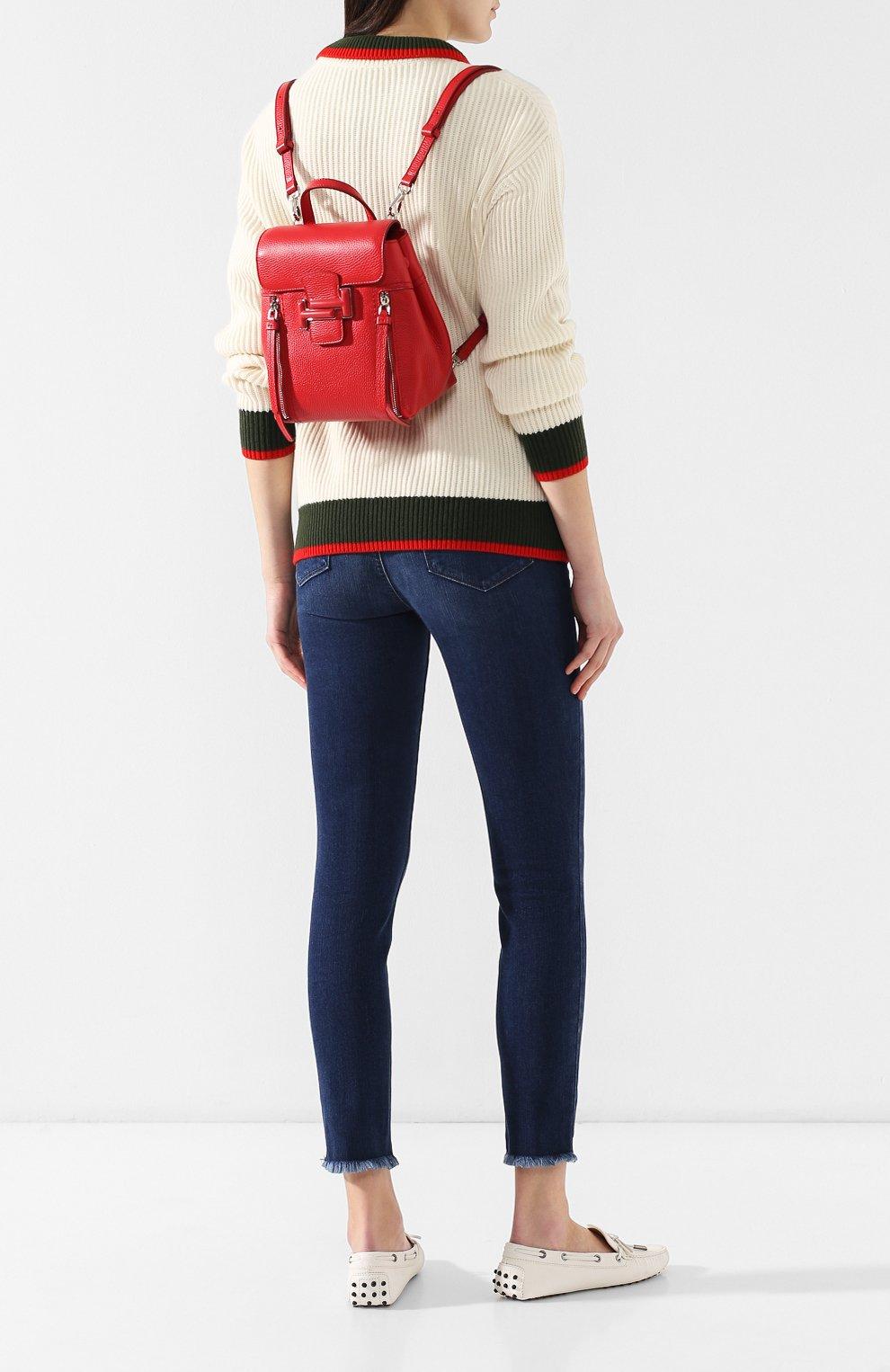 Рюкзак Double T Tod's красный | Фото №2