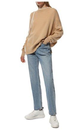 Женские кожаные кроссовки TOD'S белого цвета, арт. XXW80A0W590JUS | Фото 2
