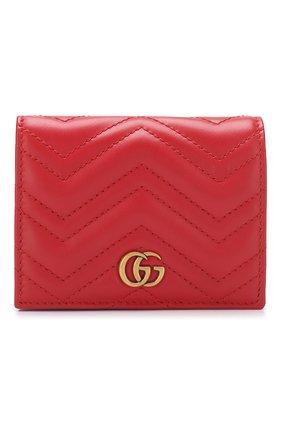Кожаное портмоне GG Marmon Gucci красного цвета | Фото №1
