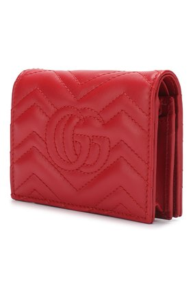 Кожаное портмоне GG Marmon Gucci красного цвета | Фото №2