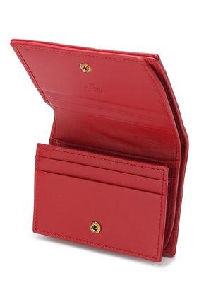 Кожаное портмоне GG Marmon Gucci красного цвета | Фото №3