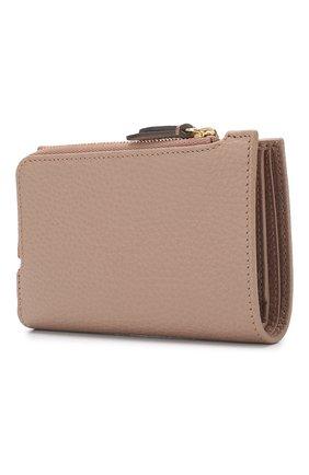 Кожаное портмоне GG Marmon Gucci бежевого цвета | Фото №2