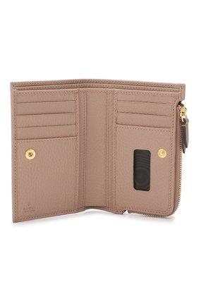 Кожаное портмоне GG Marmon Gucci бежевого цвета | Фото №3