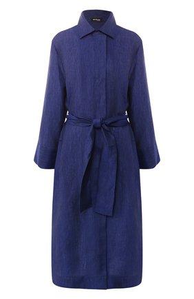 Женское льняное платье KITON темно-синего цвета, арт. D47311H06836 | Фото 1