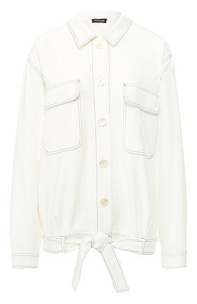 Женская куртка из вискозы KITON белого цвета, арт. D47512K08P76 | Фото 1
