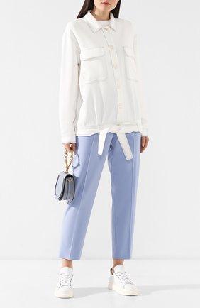 Женская куртка из вискозы KITON белого цвета, арт. D47512K08P76 | Фото 2
