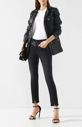 Джинсы с потертостями Givenchy черные | Фото №2