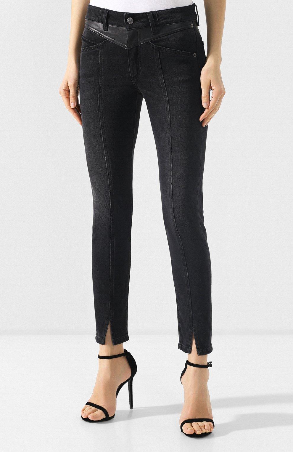 Джинсы с потертостями Givenchy черные | Фото №3