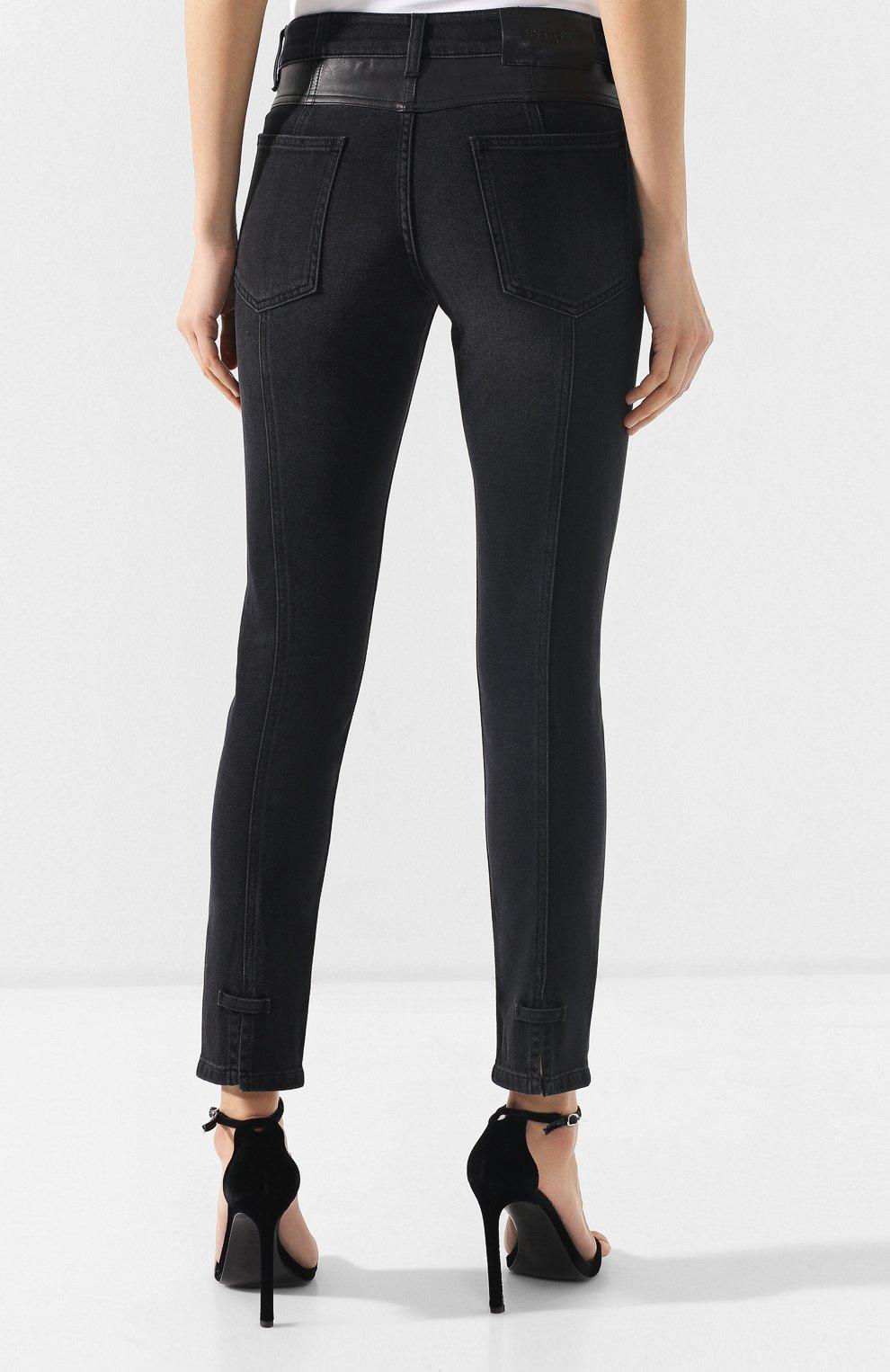 Джинсы с потертостями Givenchy черные | Фото №4