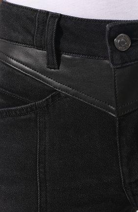 Джинсы с потертостями Givenchy черные | Фото №5