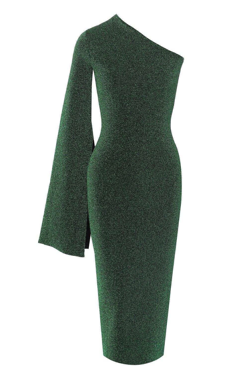 1efc88a35d6 Женское зеленое платье на одно плечо SOLACE — купить за 49250 руб. в ...