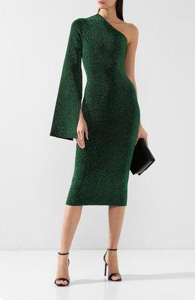 Женское платье на одно плечо SOLACE зеленого цвета, арт. 0S21001 | Фото 2