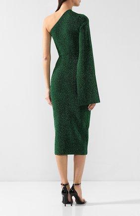 Женское платье на одно плечо SOLACE зеленого цвета, арт. 0S21001 | Фото 4