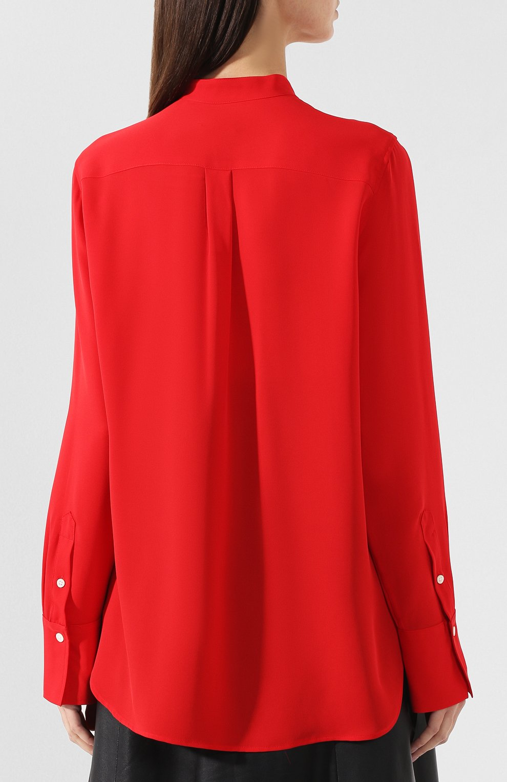 d873907ecde Женская красная шелковая блузка POLO RALPH LAUREN — купить за 19450 ...
