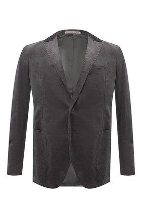 Мужской хлопковый пиджак BOTTEGA VENETA серого цвета, арт. 545777/VZMD0 | Фото 1
