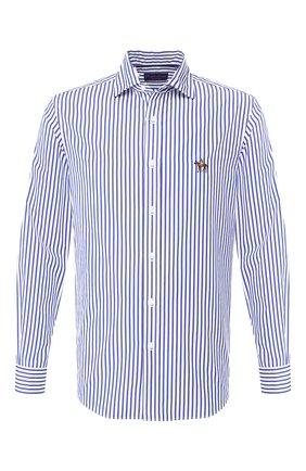Мужская хлопковая сорочка с воротником кент RALPH LAUREN синего цвета, арт. 790730897 | Фото 1