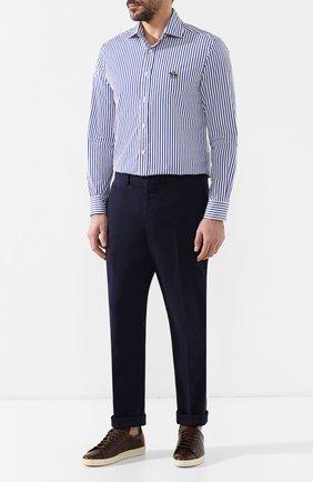 Мужская хлопковая сорочка с воротником кент RALPH LAUREN синего цвета, арт. 790730897 | Фото 2