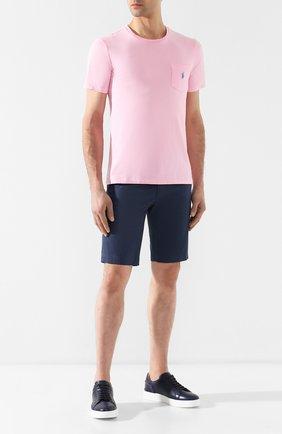 Мужские хлопковые шорты DOLCE & GABBANA синего цвета, арт. GY6GMT/FUFIS | Фото 2