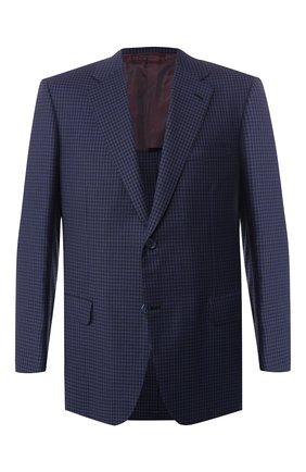 Мужской шерстяной пиджак BRIONI темно-синего цвета, арт. RGI30M/P8A88/PARLAMENT0 | Фото 1
