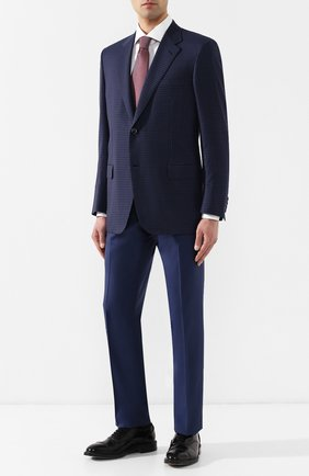 Мужской шерстяной пиджак BRIONI темно-синего цвета, арт. RGI30M/P8A88/PARLAMENT0 | Фото 2