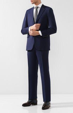 Мужской шерстяной пиджак BRIONI темно-синего цвета, арт. RGI30M/P8A80/PARLAMENT0 | Фото 2