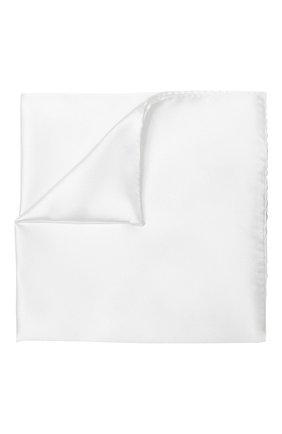 Мужской шелковый платок GIORGIO ARMANI белого цвета, арт. 360023/8P998 | Фото 1