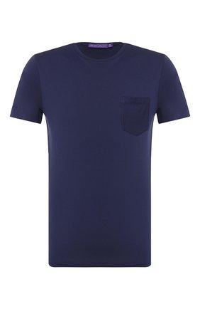 Мужская хлопковая футболка RALPH LAUREN темно-синего цвета, арт. 790687036 | Фото 1