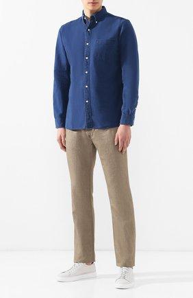Мужская джинсовая рубашка RRL темно-синего цвета, арт. 782505194 | Фото 2