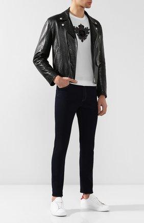 Мужские джинсы-скинни GUCCI темно-синего цвета, арт. 543712/XDADD | Фото 2