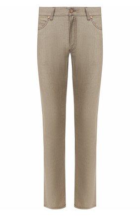 Мужские джинсы прямого кроя GIORGIO ARMANI бежевого цвета, арт. 3GSJ15/SN38Z | Фото 1