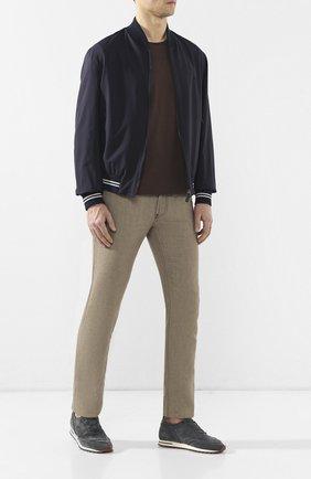 Мужские джинсы прямого кроя GIORGIO ARMANI бежевого цвета, арт. 3GSJ15/SN38Z | Фото 2