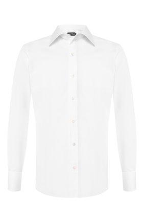 Мужская хлопковая сорочка с воротником кент TOM FORD белого цвета, арт. 5FT190/94S1JE | Фото 1