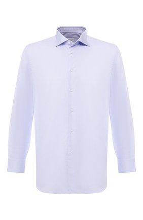 Мужская хлопковая рубашка с воротником кент BRIONI голубого цвета, арт. RCL8CF/PZ034 | Фото 1