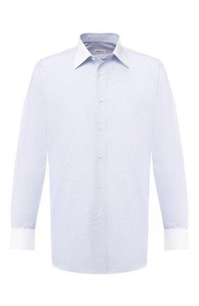 Мужская хлопковая сорочка с воротником кент BRIONI голубого цвета, арт. RCLU0W/P804I | Фото 1