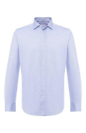 Мужская хлопковая сорочка с воротником кент BRIONI голубого цвета, арт. RCL01D/P806G | Фото 1