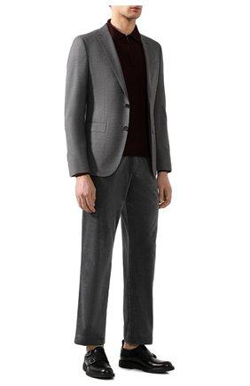 Мужской хлопковые брюки  BOTTEGA VENETA серого цвета, арт. 537988/VZMD0 | Фото 2