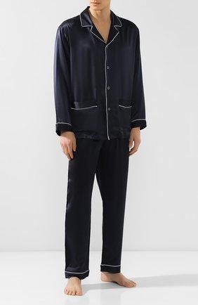 Мужская шелковая пижама ZIMMERLI темно-синего цвета, арт. ZN-25 | Фото 1