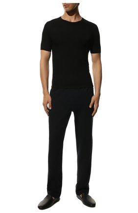 Мужская футболка из вискозы ZIMMERLI черного цвета, арт. 700-1339 | Фото 2