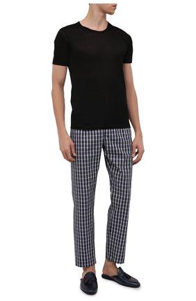 Мужские хлопковая футболка  ZIMMERLI черного цвета, арт. 252-8125 | Фото 2