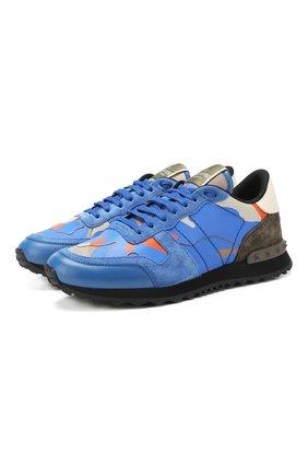 Комбинированные кроссовки Valentino Garavani Rockrunner Camouflage | Фото №1