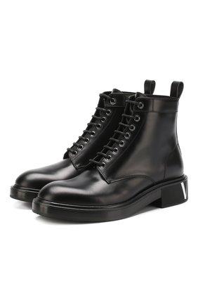 Кожаные ботинки Valentino Garavani VLTN | Фото №1