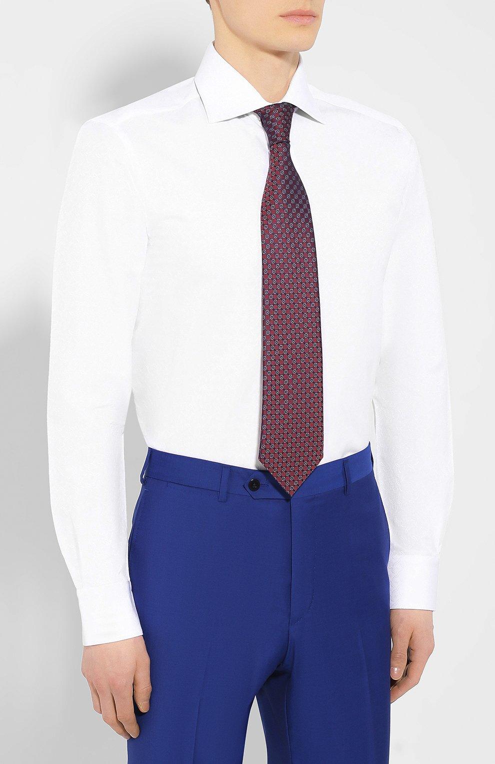 Мужская хлопковая сорочка с воротником кент ZILLI белого цвета, арт. MFR-01095-MERCU/RZ01 | Фото 4