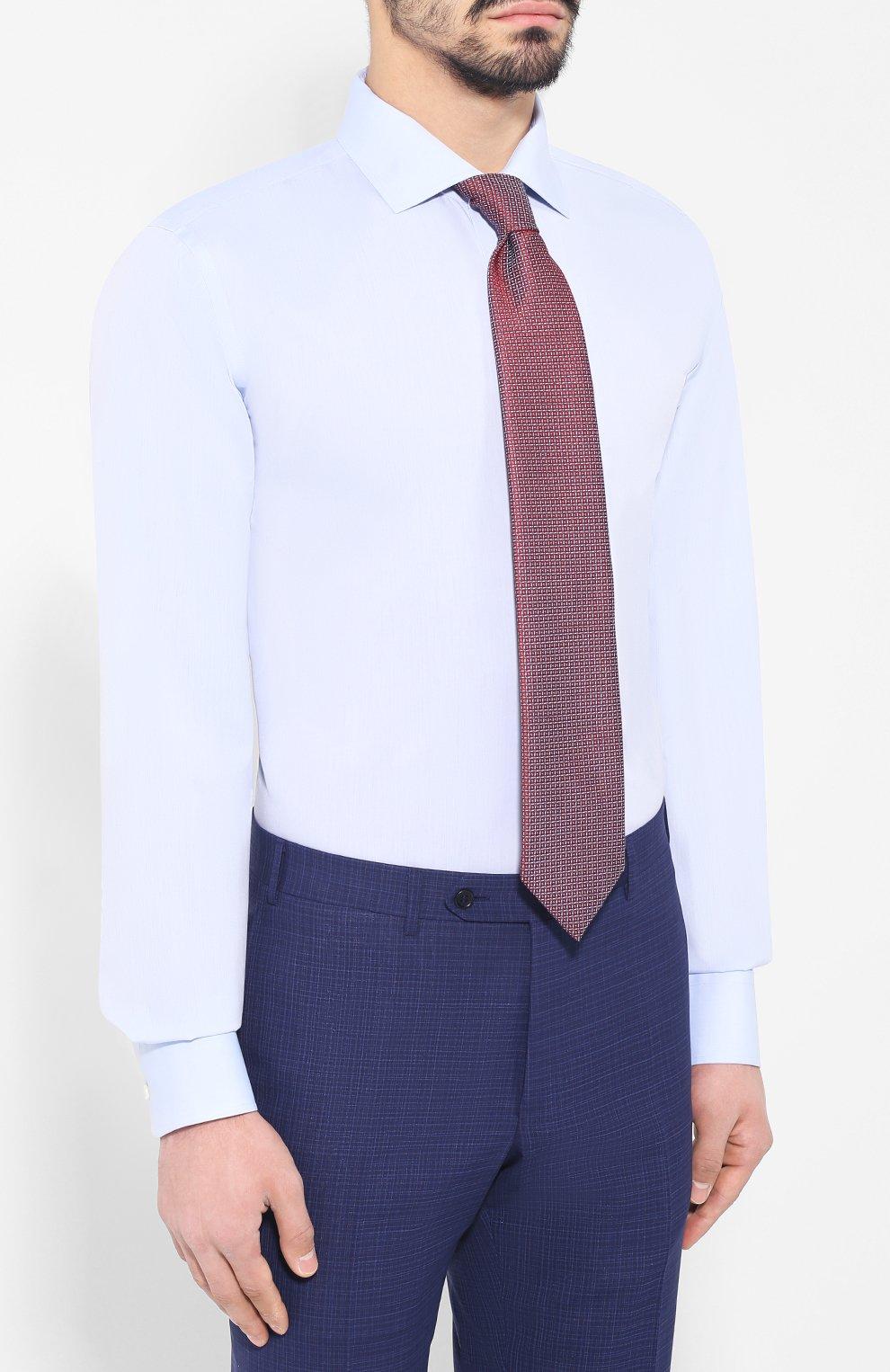 Хлопковая сорочка с воротником кент | Фото №4