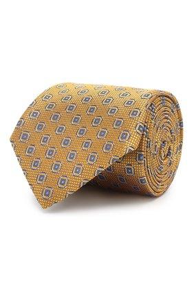 Мужской шелковый галстук CANALI желтого цвета, арт. 18/HJ02025 | Фото 1