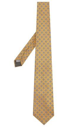 Мужской шелковый галстук CANALI желтого цвета, арт. 18/HJ02025 | Фото 2