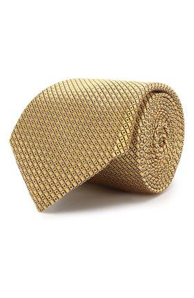Мужской шелковый галстук CANALI желтого цвета, арт. 18/HJ02007 | Фото 1