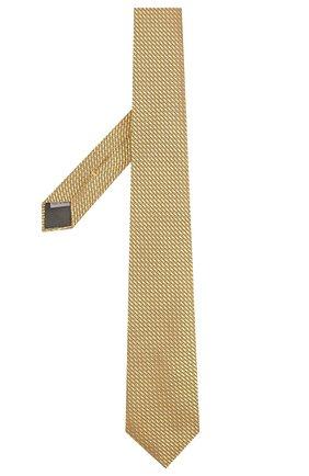 Мужской шелковый галстук CANALI желтого цвета, арт. 18/HJ02007 | Фото 2