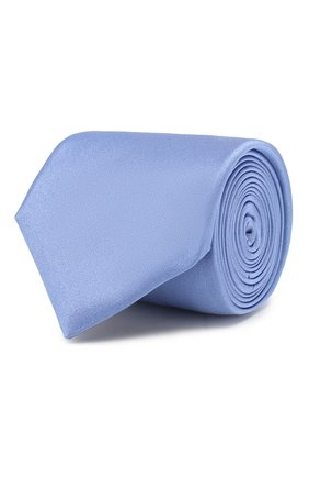 Мужской шелковый галстук CANALI голубого цвета, арт. 18/HJ01047   Фото 1