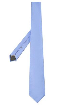 Мужской шелковый галстук CANALI голубого цвета, арт. 18/HJ01047   Фото 2